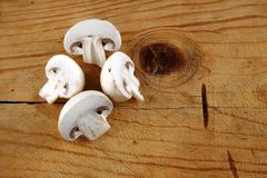 Verse gesneden champignonpaddestoel Royalty-vrije Stock Foto