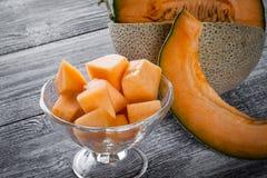 Verse gesneden meloenen Royalty-vrije Stock Fotografie