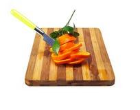 Verse gesneden sinaasappel Royalty-vrije Stock Fotografie