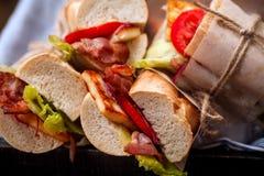 Verse gestileerde baguettesandwich bahn-mi royalty-vrije stock foto's