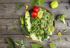 verse gezonde groene groenten royalty-vrije stock afbeeldingen