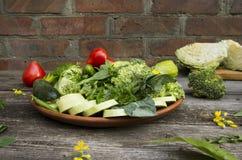 verse gezonde groene groenten royalty-vrije stock fotografie
