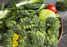 verse gezonde groene groenten stock foto