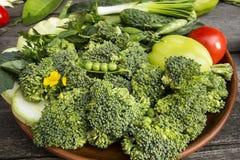 verse gezonde groene groenten royalty-vrije stock afbeelding