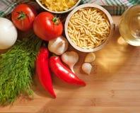 Verse gezonde ingrediënten. Stock Afbeeldingen