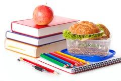 Verse gezonde maaltijd op school Stock Fotografie