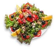 Verse Griekse salade Stock Afbeelding