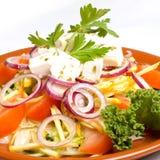 Verse Griekse salade Stock Foto's