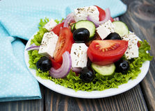 Verse Griekse salade Stock Fotografie