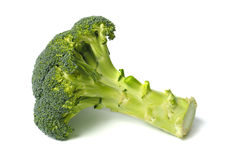 Verse groene broccoli op wit stock fotografie