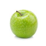Verse groene die appelen op witte achtergrond worden geïsoleerd Royalty-vrije Stock Foto