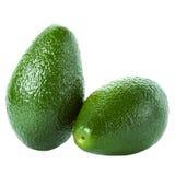 Verse Groene die Avocado's op een witte achtergrond worden geïsoleerd Royalty-vrije Stock Foto