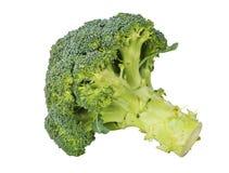 Verse groene die broccoli op witte achtergrond worden geïsoleerd Stock Foto's