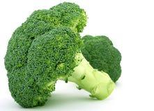 Verse groene groente, die over wit wordt geïsoleerdh royalty-vrije stock foto's