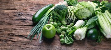 Verse groene groenten stock foto