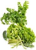 Verse groene groenten royalty-vrije stock foto's