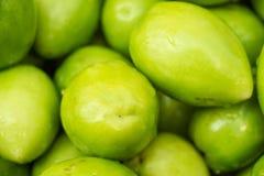 Verse groene jujubes Royalty-vrije Stock Afbeeldingen