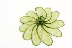Verse groene komkommers Royalty-vrije Stock Afbeeldingen
