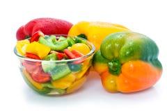 Verse groene paprika's Royalty-vrije Stock Foto's