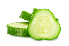 Verse groene plakken van komkommer Royalty-vrije Stock Foto's