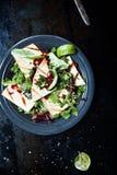 Verse Groene Salade met Granaatappel en Taco'scitroen Royalty-vrije Stock Foto's