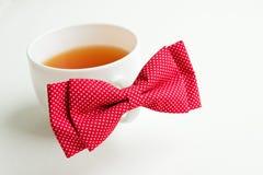 Verse groene thee en vlinderdas Stock Foto