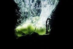 Verse, groene tomaten Royalty-vrije Stock Afbeeldingen