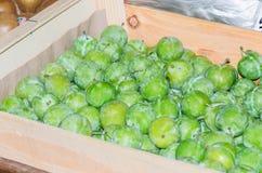 Verse groene vruchten pruim, Royalty-vrije Stock Afbeelding