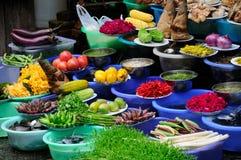 Verse groente in markt Royalty-vrije Stock Afbeeldingen