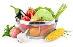 Verse groente met bladeren Stock Foto's
