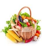 Verse groente met bladeren stock afbeeldingen