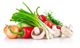 Verse groente met greens Stock Afbeeldingen