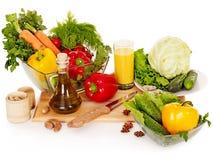 Verse groente op houten raad. Stock Fotografie