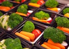 Verse groentekoppen royalty-vrije stock afbeeldingen