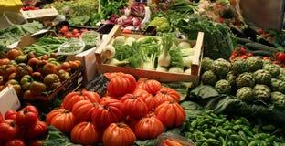 Verse groentemarkt in Barcelona Spanje Royalty-vrije Stock Afbeeldingen