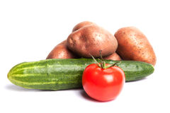 Verse groenten die op wit worden geïsoleerdi Royalty-vrije Stock Afbeeldingen