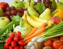 Verse groenten en fruit royalty-vrije stock foto's
