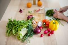Verse groenten en kruiden Royalty-vrije Stock Afbeeldingen