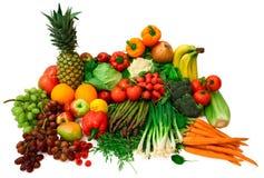 Verse Groenten en Vruchten Royalty-vrije Stock Afbeeldingen