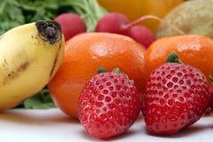 Verse groenten en vruchten Stock Afbeeldingen