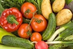Verse groenten, gezond dieet Stock Afbeeldingen