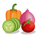 Verse groenten gezond voedsel vector illustratie