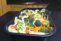 verse groenten klaar te koken Royalty-vrije Stock Foto