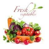 Verse groenten in kom stock fotografie