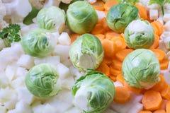 Verse groenten met spruitjes royalty-vrije stock fotografie