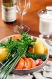 Verse groenten op de lijst Royalty-vrije Stock Fotografie