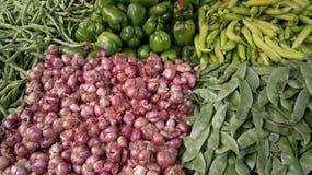 Verse groenten op de markten Royalty-vrije Stock Foto's