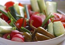 Verse groenten op lijst Royalty-vrije Stock Fotografie