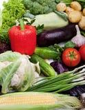 Verse groenten op wit. Stock Foto