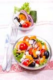 Verse groenten in salade Royalty-vrije Stock Foto's